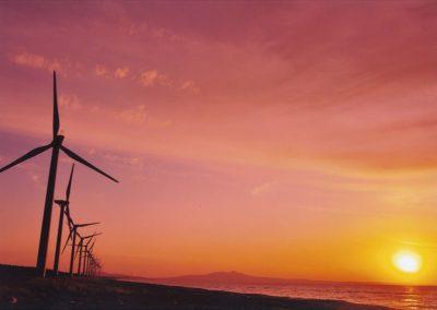 釜谷浜の夕陽